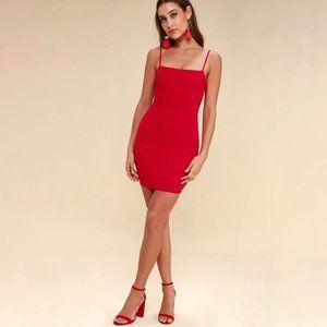 LULU'S Flaunt It Red Bodycon Dress Size XS